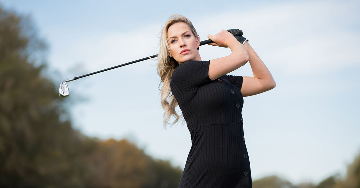 Paige Spiranac in Black Dress
